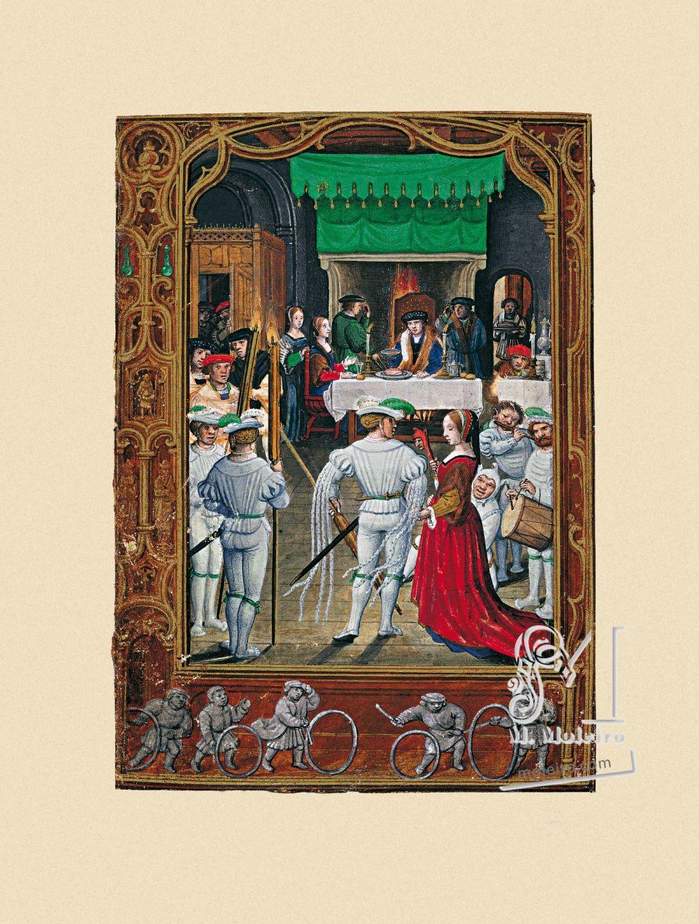 Libro del Golf  f. 19v, Febrero, las fiestas de los nobles