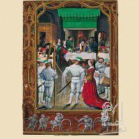 f. 19v, Febrero, las fiestas de los nobles