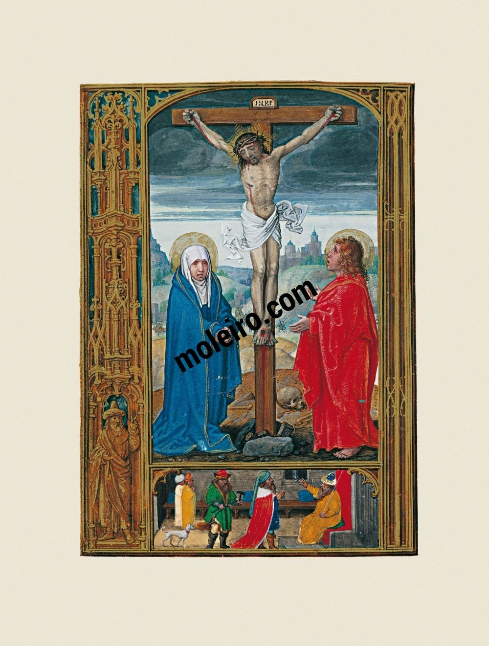 The Golf Book (Book of Hours) f. 12v, Crucifxion