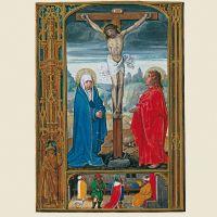 f. 12v, Crucifixión