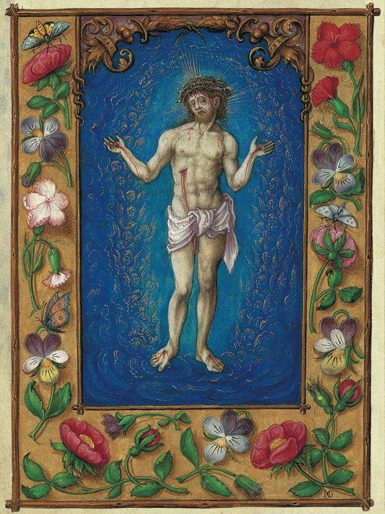 Lâmina do Varão das Dores do Livro de Oração de Alberto de Brandemburgo Varão de Dolores, f. 76r