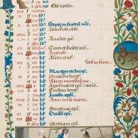 Calendario: julio,La trilla del trigo (f. 4r)