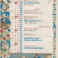 Календарь: август, Крестьянин несет старуху на тележке (f. 4v)