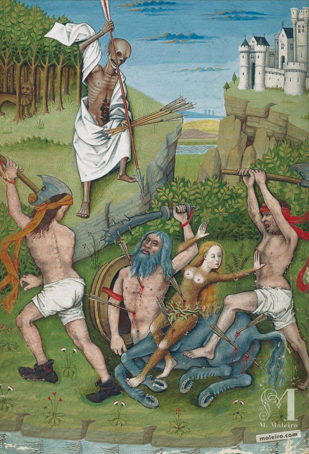 The Hours of Charles of Angoulême Centaur's death (f. 41v)