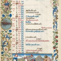 Calendrier : juin (f. 3v)