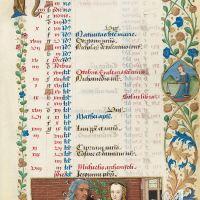 Calendario: septiembre,Extraña pareja (f. 5r)