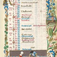 Calendario: noviembre,Matanza del cerdo (f. 6r)