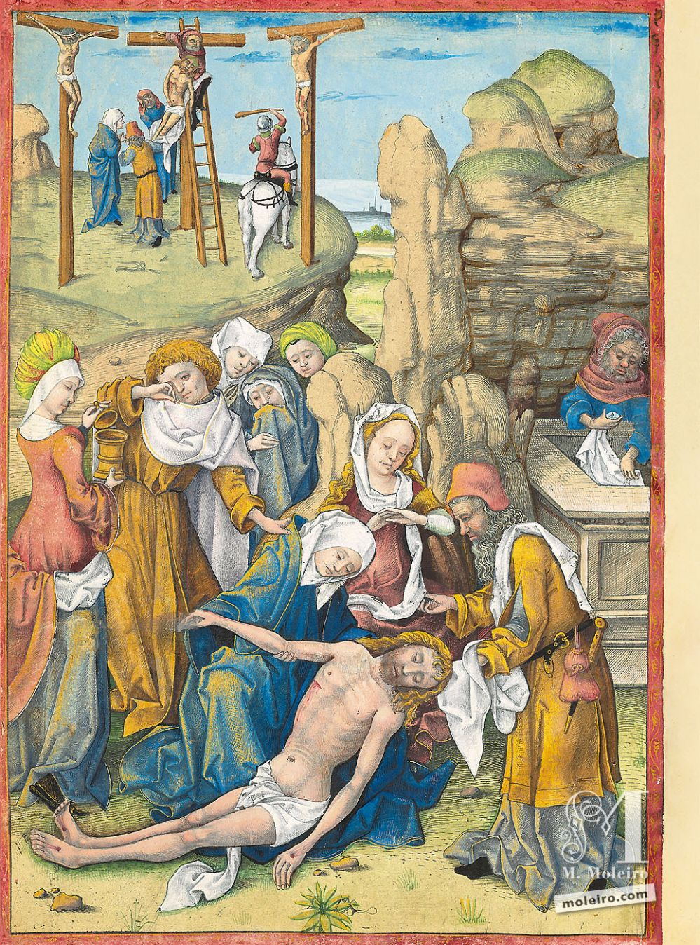 The Hours of Charles of Angoulême The Lamentation of Christ (f. 106v)