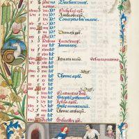 Calendario: diciembre,Cocción del pan (f. 6v)