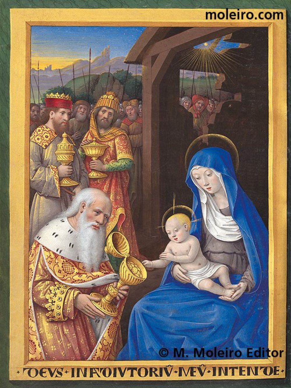 The Hours of Charles of Angoulême Adoration of the Magi (f. 22v)