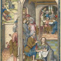 La Cène et le Lavement des pieds (f. 59v)