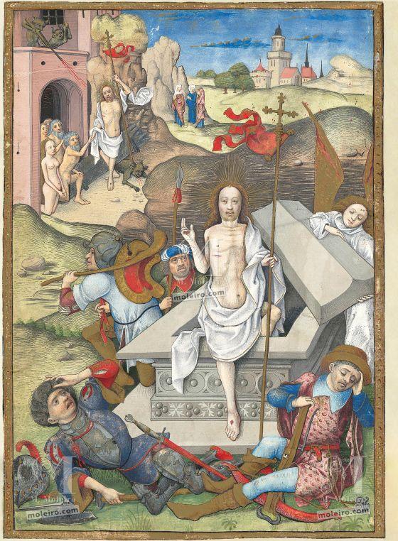 Libro d'Ore di Carlo d'Angoulême La Resurrezione di Cristo (f. 110v)