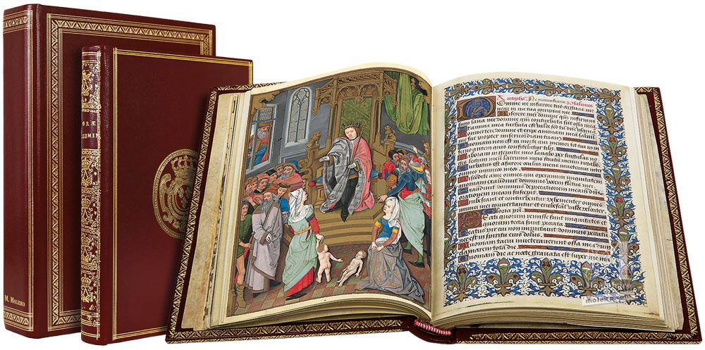 The Hours of Charles of Angoulême Solomon's Judgement (f.34v)