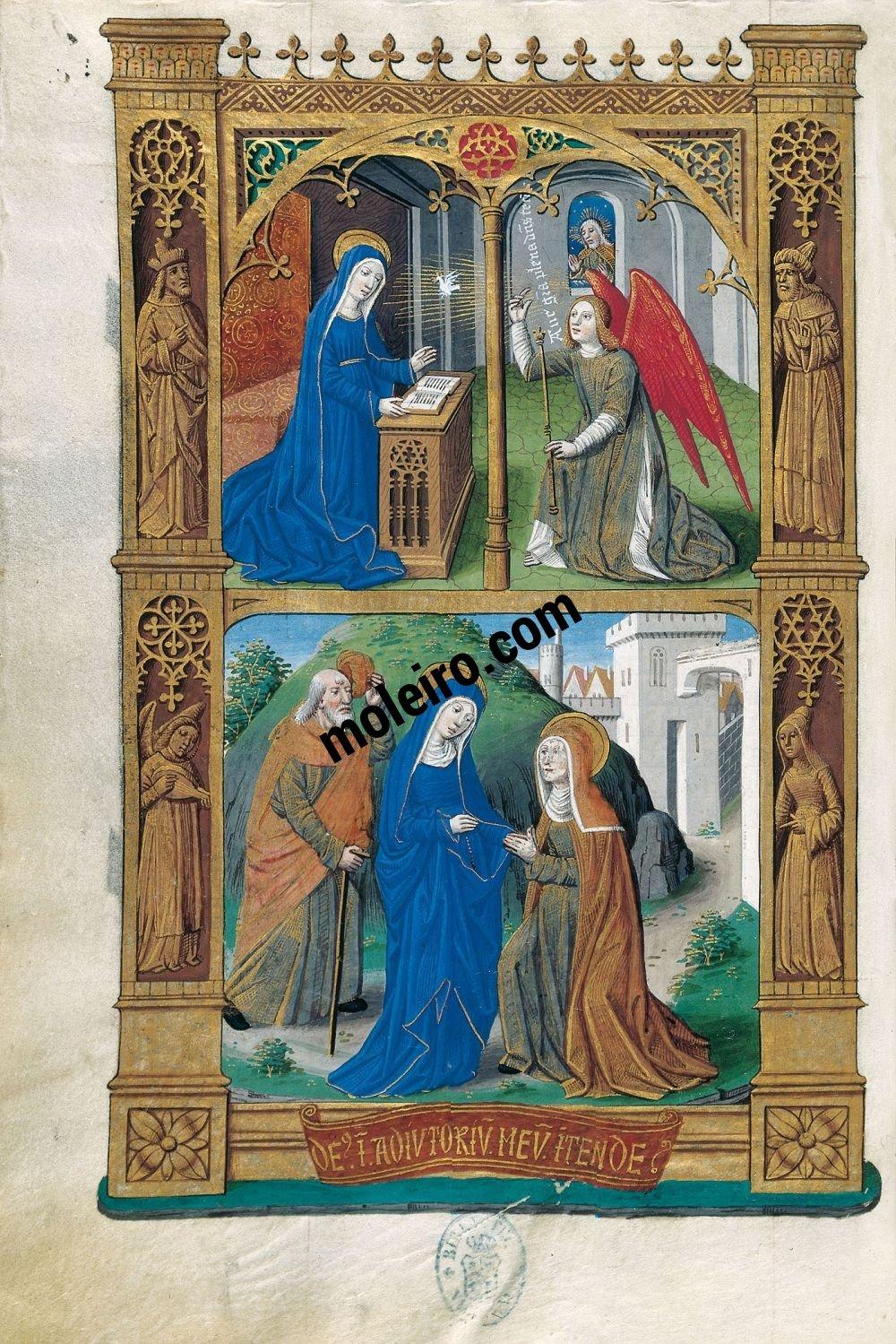 Libro de Horas de Carlos VIII f. 29v, Anunciación