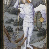 St Michael the Archangel, f. 71r