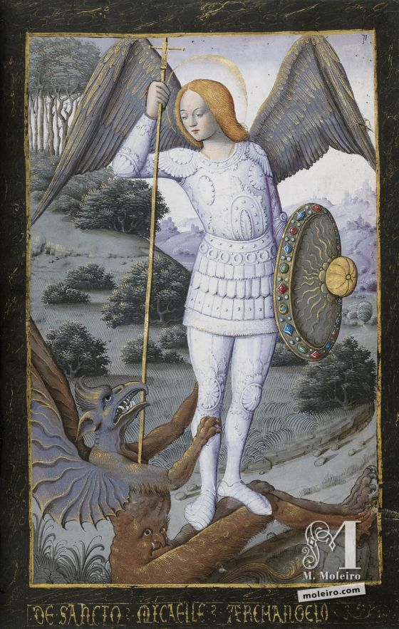 The Hours of Henry IV of France St Michael the Archangel, f. 71r