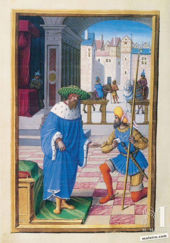 The Hours of Henry VIII David and Uriah, f. 108v