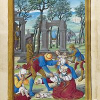 Massacre of the Innocents and Flight into Egypt, f. 69v