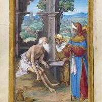 Job on the Dungheap, f. 127v