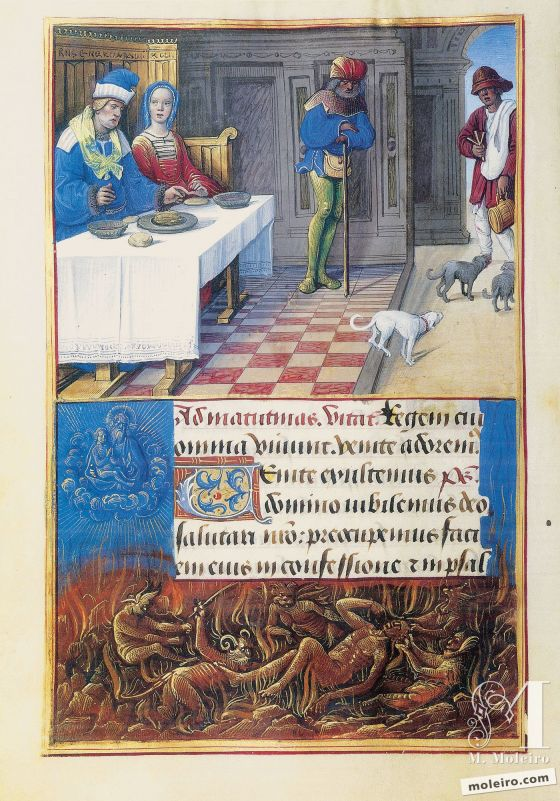The Hours of Henry VIII Feast of Dives, f. 134v