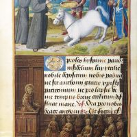 Anthony and the Eucharistic Miracle, f. 185v