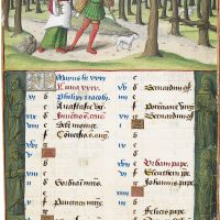 May. Picking Branches, f. 3r