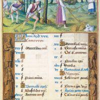 Juin : Fauchage, f. 3v