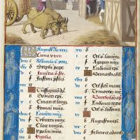 August. Threshing, f. 4v