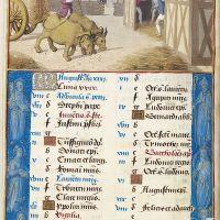 August. Threshing, f. 4v