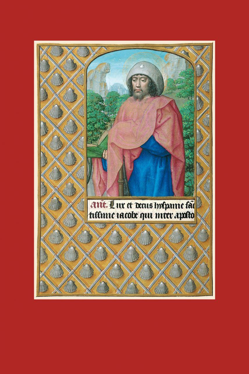 Lámina de Santiago apóstol del libro de Horas de Juana I de Castilla (Juana la Loca) 1 lámina casi-original