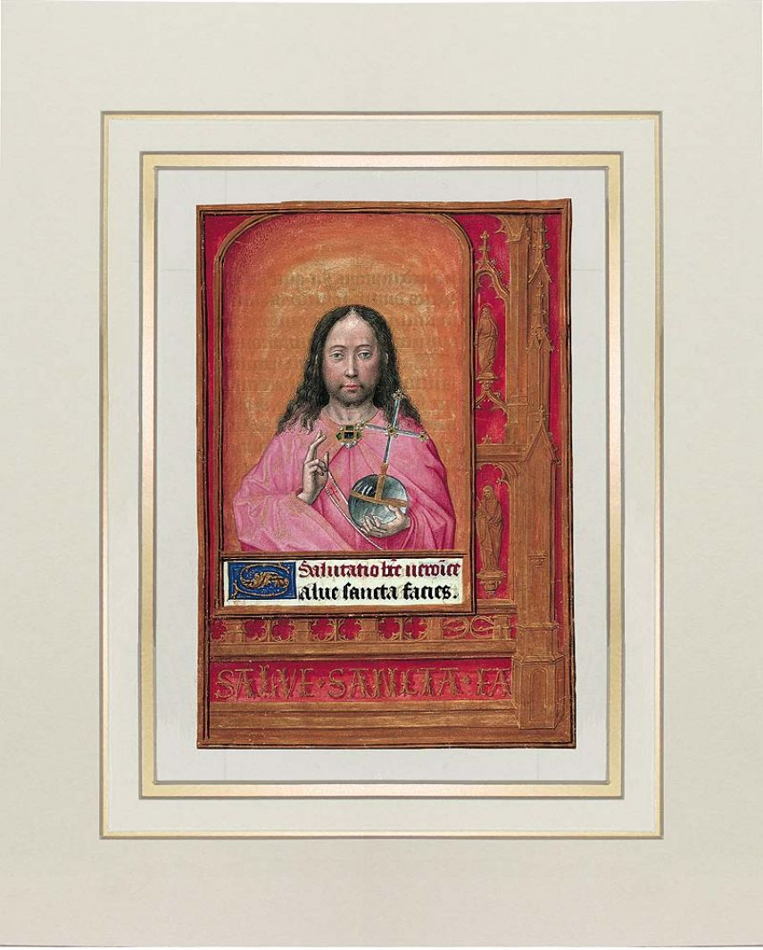 Print: the Pantocrator from the Hours of Joanna I of Castile (Joanna the Mad) 1 identical illumination