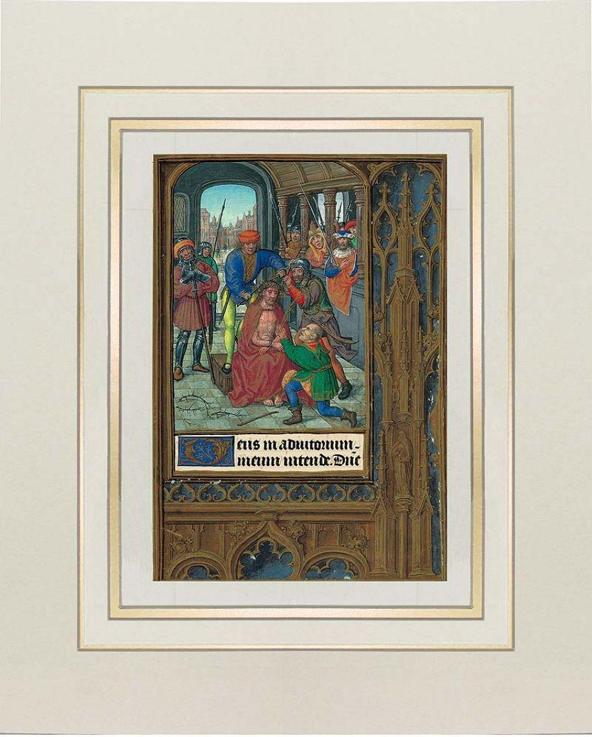 Lámina de la Coronación de espinas del Libro de Horas de Juana I de Castilla 1 lámina casi-original