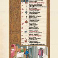 f.1v, Kalender, Januar