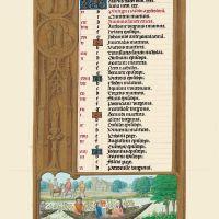 f. 3v, Calendario, Mayo