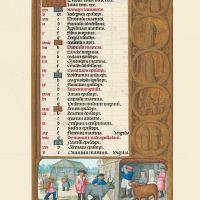f. 6r, Calendario, Octubre