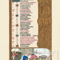 f. 7r, Calendario, Diciembre