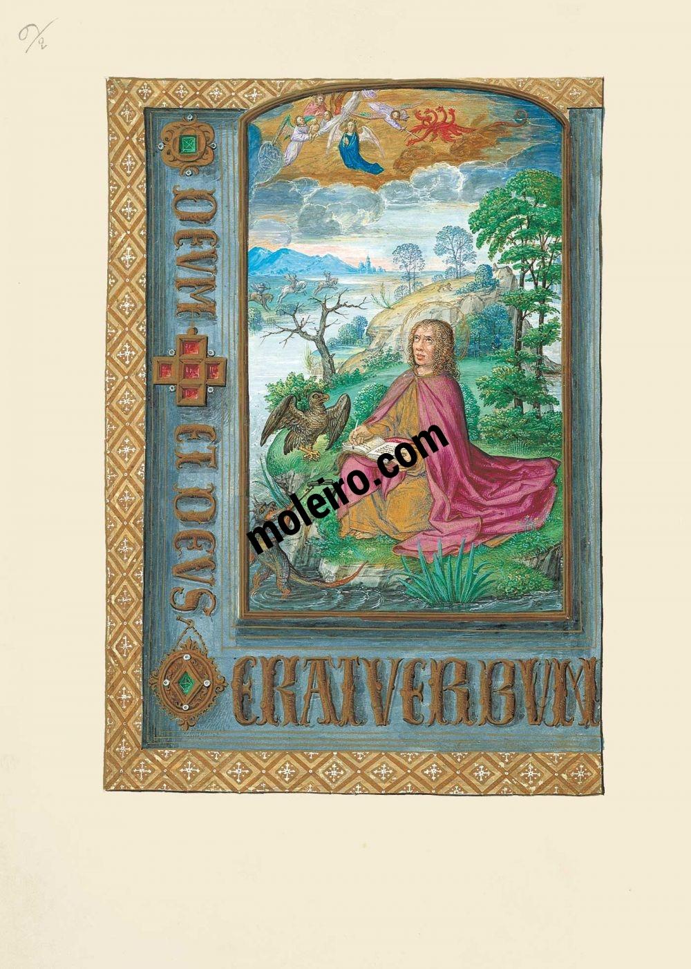 Libro d'Ore di Giovanna I di Castiglia, Giovanna la Pazza f. 10v, San Giovanni a Patmos