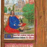 f. 57r, Mose und der brennende Dornbusch