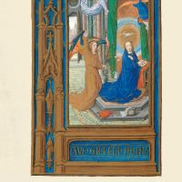 f. 56v, The Annunciation