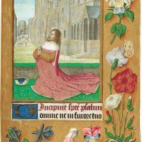 <p>f. 135r, David praying</p>
