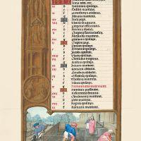 f. 2v, Calendario, Marzo