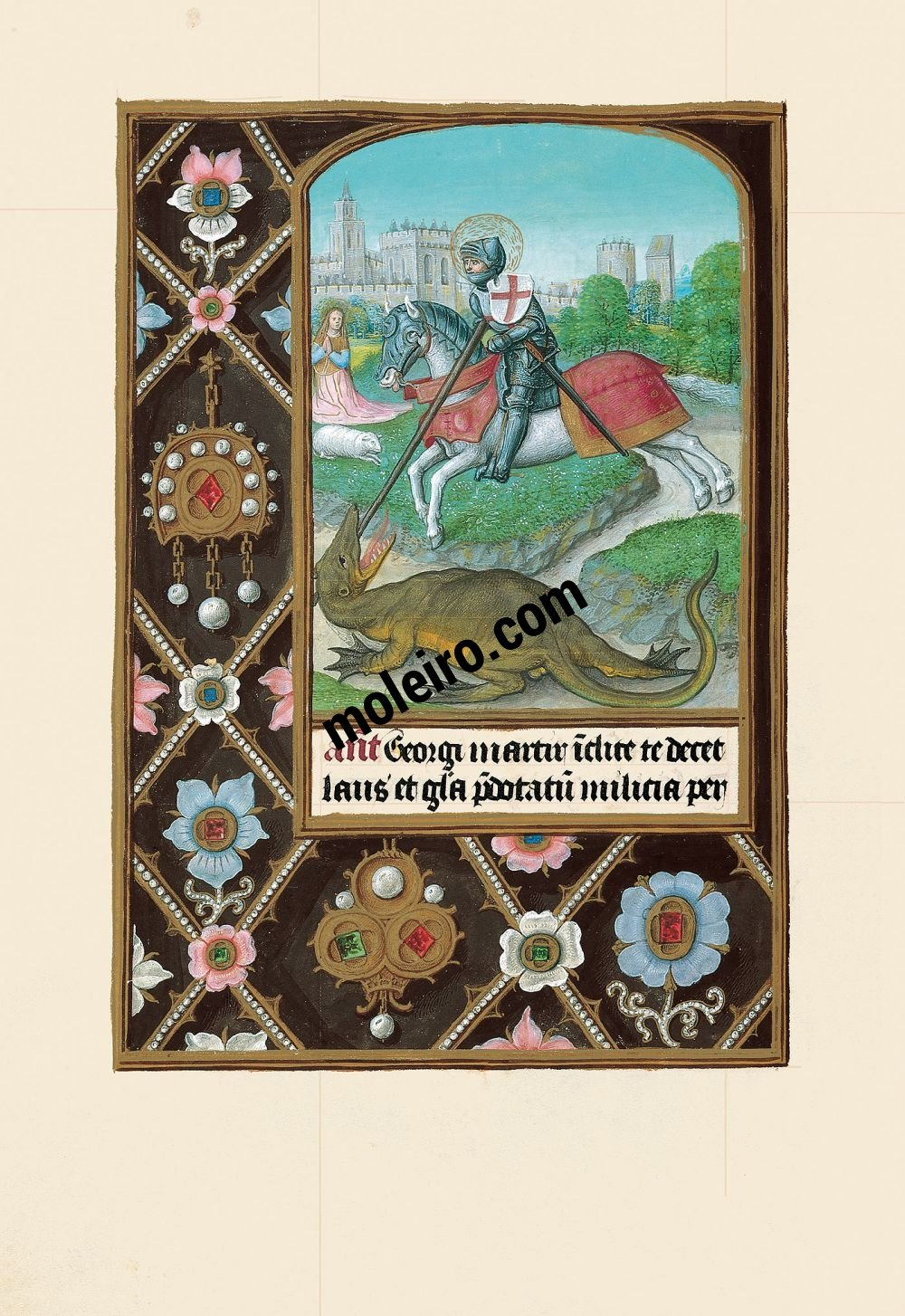 The Hours of Joanna I of Castile, Joanna the Mad (The London Rothschild Prayerbook) f. 223v, St George