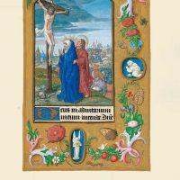 f. 29r, Jesús clavado en la cruz y Crucifixión