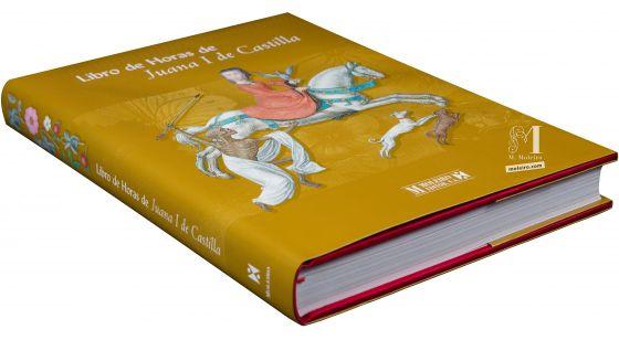 Libro de Horas de Juana I de Castilla Fotografía en perspectiva de la portada y lomo del libro de arte Libro de Horas de Juana I de Castilla.
