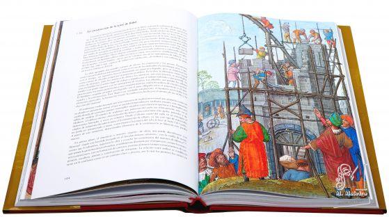 Libro de Horas de Juana I de Castilla La construcción de la torre de Babel (f. 34r.)<br />