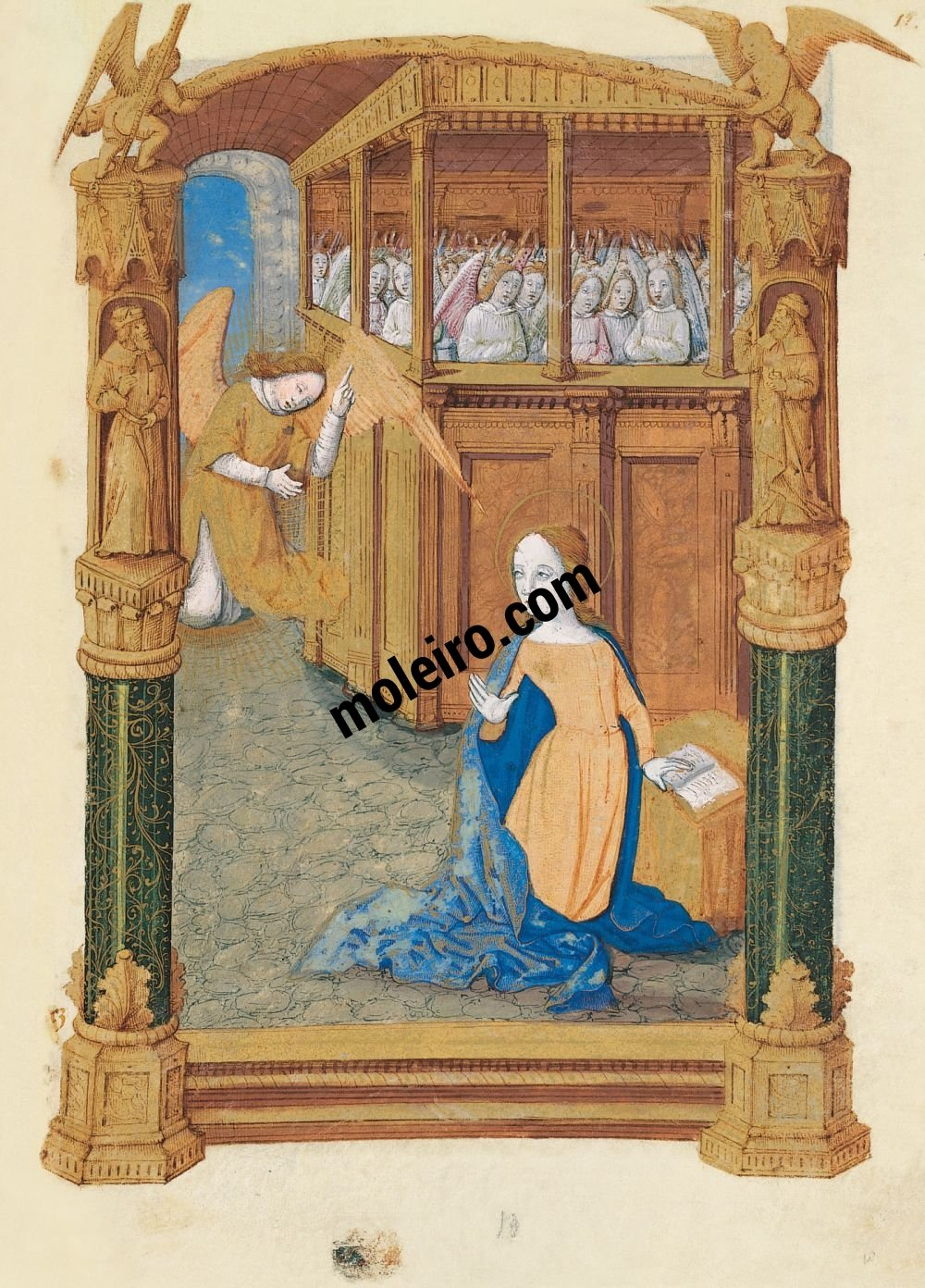 Book of Hours of Louis of Orleans f. 12r.Annunciation