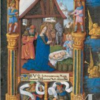 f. 25r, Prime: Nativity scene