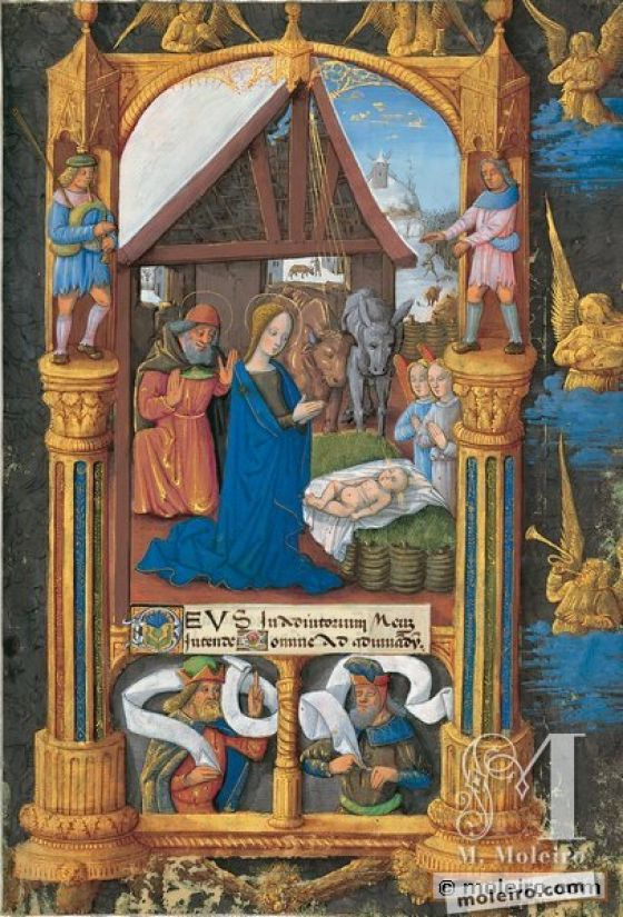 Book of Hours of Louis of Orleans f. 25r, Prime: Nativity scene