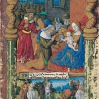f. 31r, Sixth: The adoration of the Magi