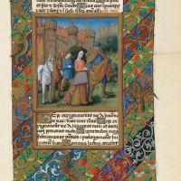 f. 41r, Tobias and Sarah abandon Echatana